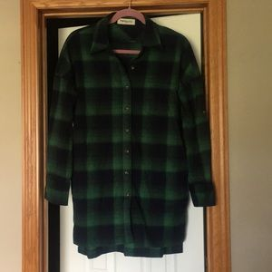 Tartan green plaid tunic